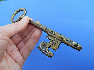Rare Antique Old French large key ,made 18 th century (lock ,doors)