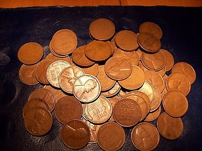 1-roll of MIXED WHEAT PENNYS 10'S -20'S -AND 30'S with  mint marks of p d  & s