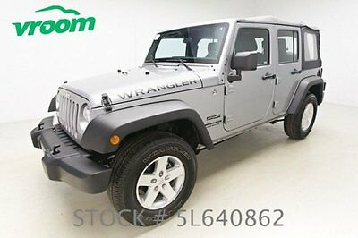 Jeep : Wrangler Sport Certified 2013 jeep wrangler unlimited 4 x 4 sport 20 k mile manual 1 owner clean carfax vroom