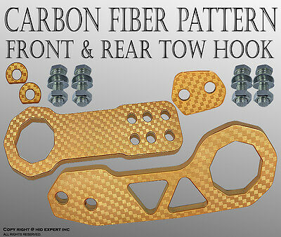 ABL FORD 1SET CNC Billet Kit Front & Rear High Strength TOW HOOK GOLD  BNM#2 V6B