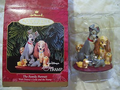Disney LADY AND THE TRAMP 1999 Hallmark  Ornament Keepsake ~THE FAMILY PORTRAIT