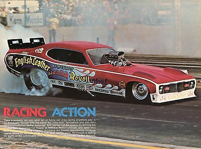 1975 Great Pic of Ed The Ace McCulloch English Leather Revellution Funny Car