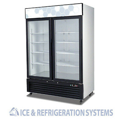 Migali 49Cf Commercial Hinged Glass Door Freezer Reach In C-49Fm