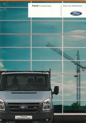 Ford Transit Chassis Cab & Double Cab 2007-08 UK Market Sales Brochure
