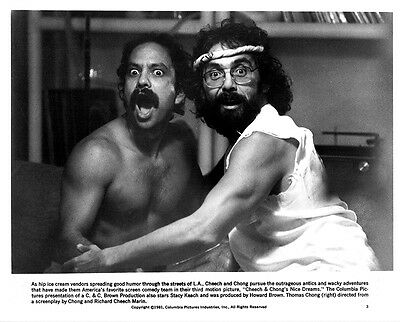 CHEECH AND CHONG -- ORIGINAL-ISSUE PUBLICITY STILL FROM 'NICE DREAMS'