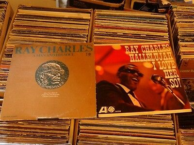 Ray Charles 2LP LOT Hallelujah I Love Her So A Man And His Soul