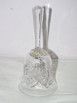 Handcut Mouthblown Crystal Bell Hungary Crystal Clear Industries