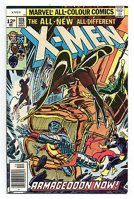 X-Men Vol 1 No 108 Dec 1977 (VFN-) Pence Copy, 1st John Byrne art, Bronze Age