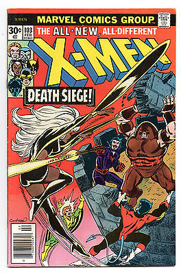 X-Men Vol 1 No 103 Feb 1977 (FN+ to VFN-) Marvel Comics,Bronze Age (1970 - 1979)