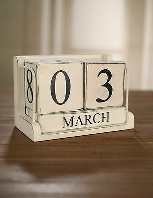 Rustic Blocks Calendar Antiqued Home Decor. Months and Days BRAND NEW
