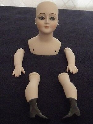 PORCELAIN DOLL PARTS  HEAD, ARMS AND LEGS. HAND PAINTED