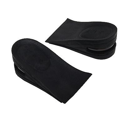 Unisex Shoe Insoles Air Cushion Heel 2Layer 2 inch (5cm) Black Increase Height