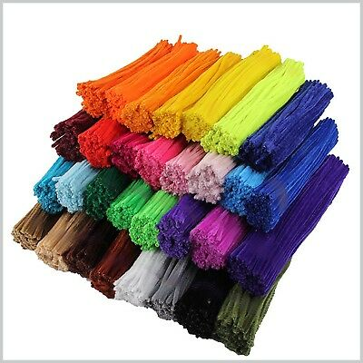 "Pipe Cleaners Craft Chenille Craft Stems  30cm 12"" Lots of Colours Pipe cleaner"