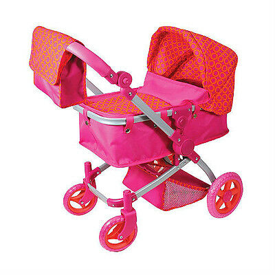 DOLL STROLLER CARRIAGE PRAM MULTI FUNCTION FOR LISSI BITTY BABY AMERICAN GIRL