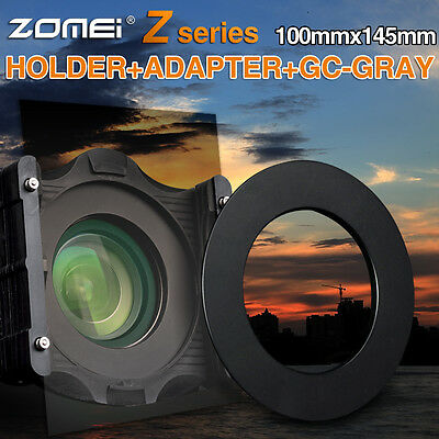 Zomei 100mm*145mm Square filter Gradual Grey ND4+Holder+67mm ring for Cokin Z