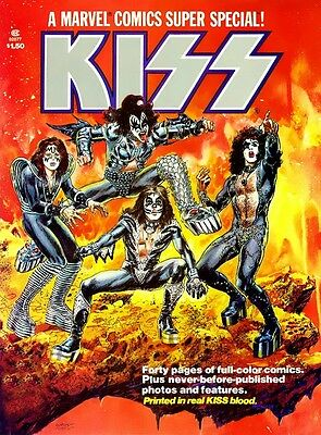Kiss Super Special Comics#1 POSTER 1977 Kiss Army Rare