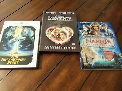 Labryrinth (collectors edition) Narnia(new) The NeverEnding Story Lot Of 3 DVDS