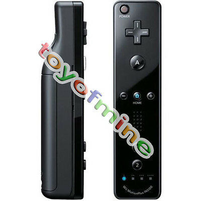 Black Wiimote Built in Motion Plus Inside Remote Controller For Nintendo wii New