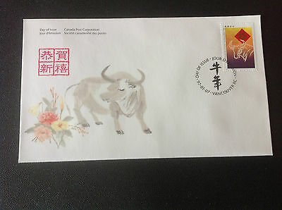 "CANADA 1997 FDC YEAR OF THE OX "" STAMP"