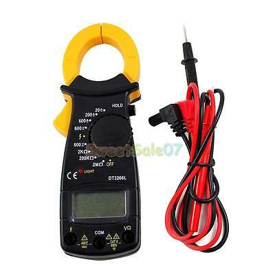Portable AC DC Voltage LCD Digital Clamp Multimeter Electronic Tester Meter NEW