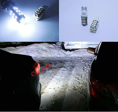 2x White 32-SMD LED Bulbs For Car Backup Reverse Lights T10 912 921 2825 #a3