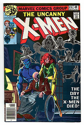 Uncanny X-Men Vol 1 No 114 Oct 1978 (VFN) Cents Copy Marvel Comics, Bronze Age