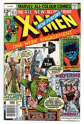 X-Men Vol 1 No 111 Jun 1978 (VFN) Marvel Comics, Bronze Age (1970 - 1979)