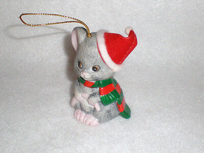 """J.S.N.Y. """"Kitty with Scarf"""" Bisque Porcelain Bell /Christmas Ornament"""