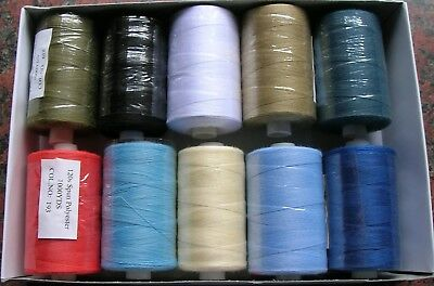 10X1000 Yards Polyester  Sewing Thread  120S/ 40/2 In  Assorted Colours