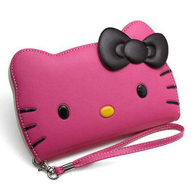 Hello Kitty Case for Galaxy Note 4  Wallet Cover Bagic Hot Pink Made in Korea