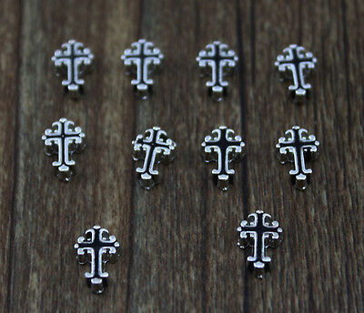 10pcs cross wholesale Floating Charms for Glass Memory Locket necklace e93