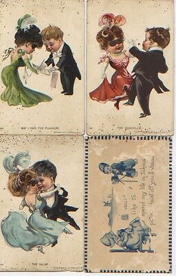 12 100 Year Old 1890's 1900's Postcards Post Cards Vintage Antique PC2