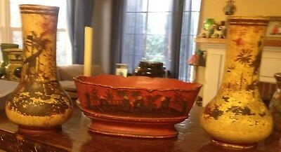 Antique Wilhelm Schiller and Son WS&S 99 Bowl and 284 Vases