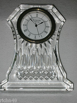 NEW WATERFORD Crystal  LISMORE MANTEL CLOCK