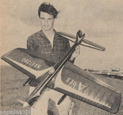 """Model Airplane Plans: ARES 51"""" Stunt for .29-.35 designed by Bill Werwage"""