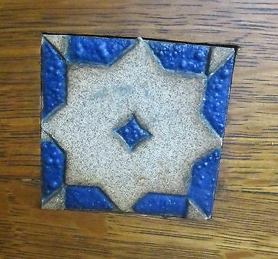 4  GRUEBY TILES DAZZLING BLUE AND WHITE -FULLY SIGNED