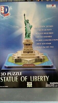 Statue of Liberty Ellis Island New York NY 3D Puzzle Jigsaw Puzzle Daron New