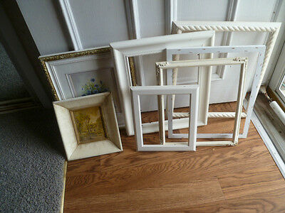 lot of 7 shabby beach cottage picture frames home decor decoratine art
