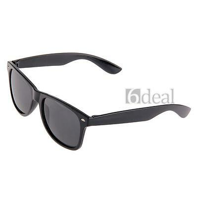 New Womens Mens Vintage Retro Black Sunglasses Shades Resin Hot
