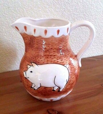 """Towle Sigma WHIMSICAL PIG Pitcher !! Ceramic 7"""" - ships free in the US"""