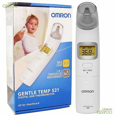 Omron Gentle Temp 521 Baby Adult Fast Digital One-Second Compact Ear Thermometer