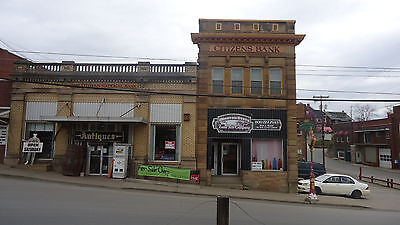 Historic Bank Building Office Storefront Apartment Pennsboro WV Real Estate Land