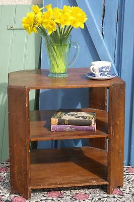 Vintage Art Deco Coffee Table 30s Geometric Octagonal Bookcase Table Rustic Chic
