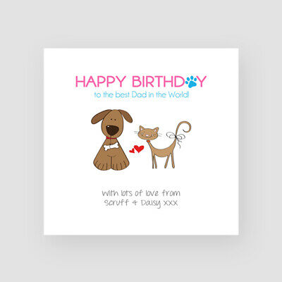 Personalised Birthday Card From The Dog Happy Birthday Any Names