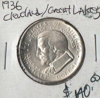 1936  Cleveland/ Great Lakes Silver Half Dollar