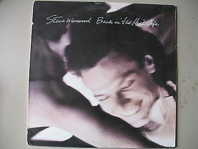 Back In The High Life by Steve Winwood(Island...1986) EXC  LP