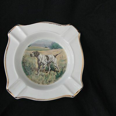 English Pointer Dog AshTray VTG Weatherby Hanley England Royal Falcon Ware 3-75