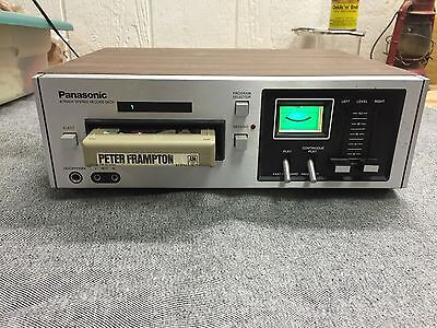 Vintage Panasonic RS-805US 8 Track Stereo Record Deck with 8 Track Collection