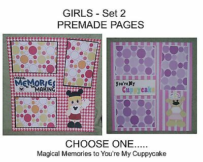 """""""GIRLS"""" -SET 2 - Premade Page 12x12-Choose One-Just Add Pics!"""