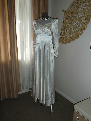 VINTAGE ANTIQUE VICTORIAN Edwardian 1900's WEDDING DRESS